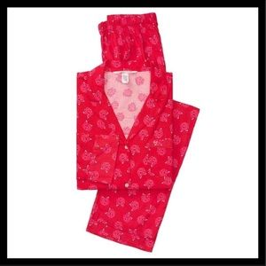 VICTORIA'S SECRET The Flannel Pajamas Red Roses